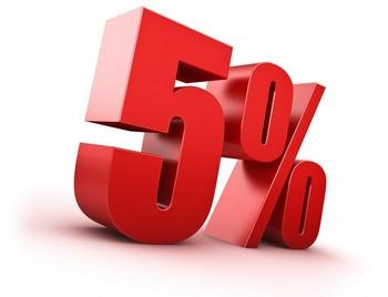 возможно ли применение правила 5% при раздельном НДС