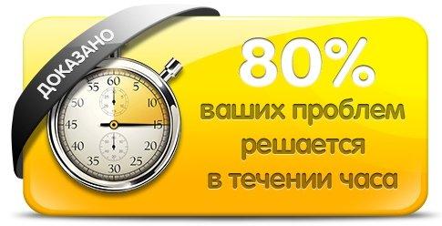 80 процентов проблем наши программисты 1С решат в течении часа