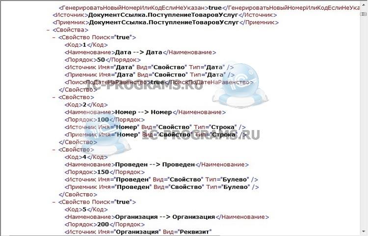 Написанные по заказу правила обмена данными 1С